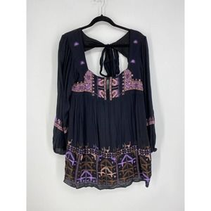 Free People Sz S Rhiannon Embroidered Dress